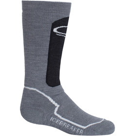 Icebreaker Snow Medium OTC Socks Kids twister heather-jet heather-snow